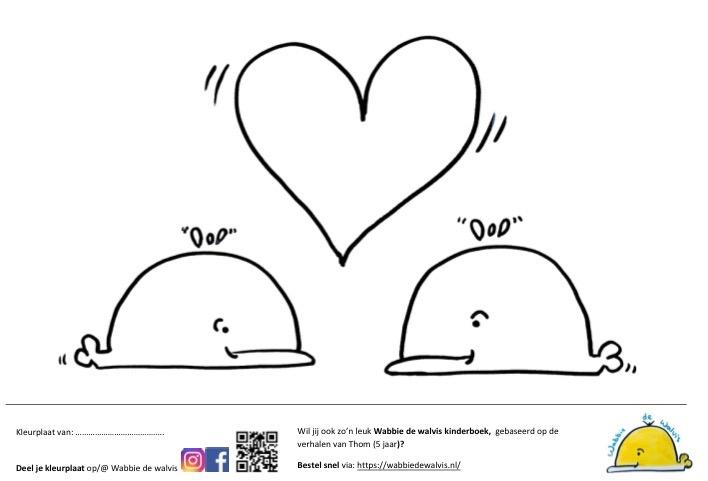 Mooie Kleurplaten Over Liefde.Plastic Soep Wabbie De Walvis